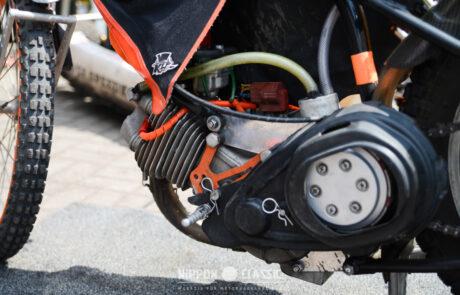 Hinten besitzen Speedway Motorräder auffällig große Ritzel