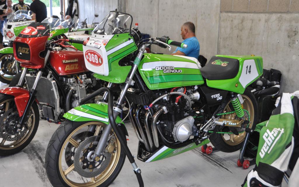 Kawasaki Godier Genoud in der Box