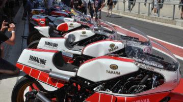 Yamaha Rennmaschinen aus der guten alten Zeit
