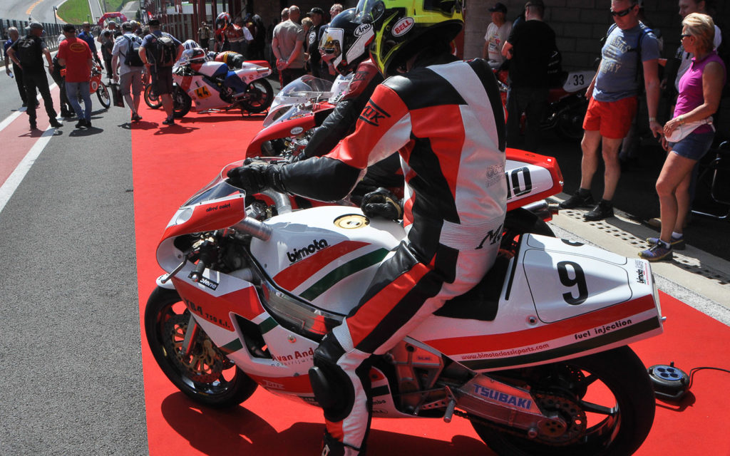 Collet mit seiner Bimota Yamaha in Spa-Francorchamps