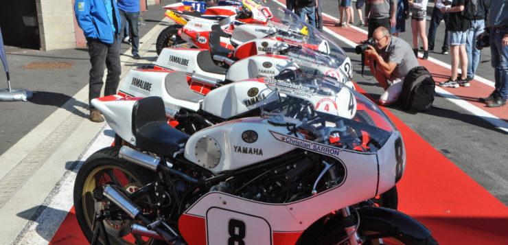 Die Yamaha-Rennmaschinen waren der Blickfang in Spa