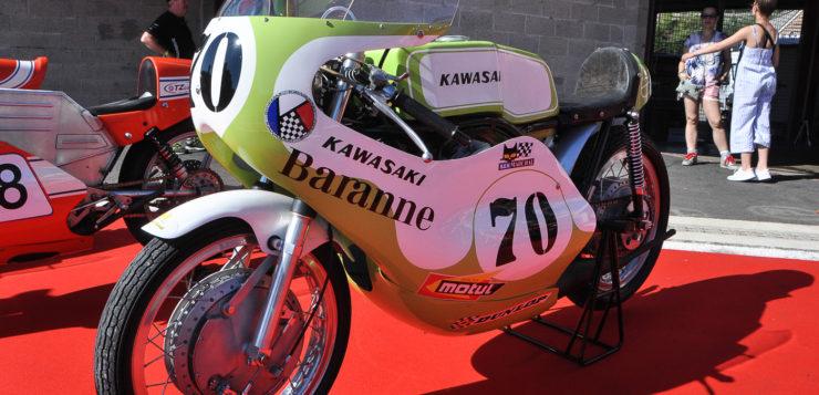 Die historischen Motorräder standen wie aus dem Ei gepellt da