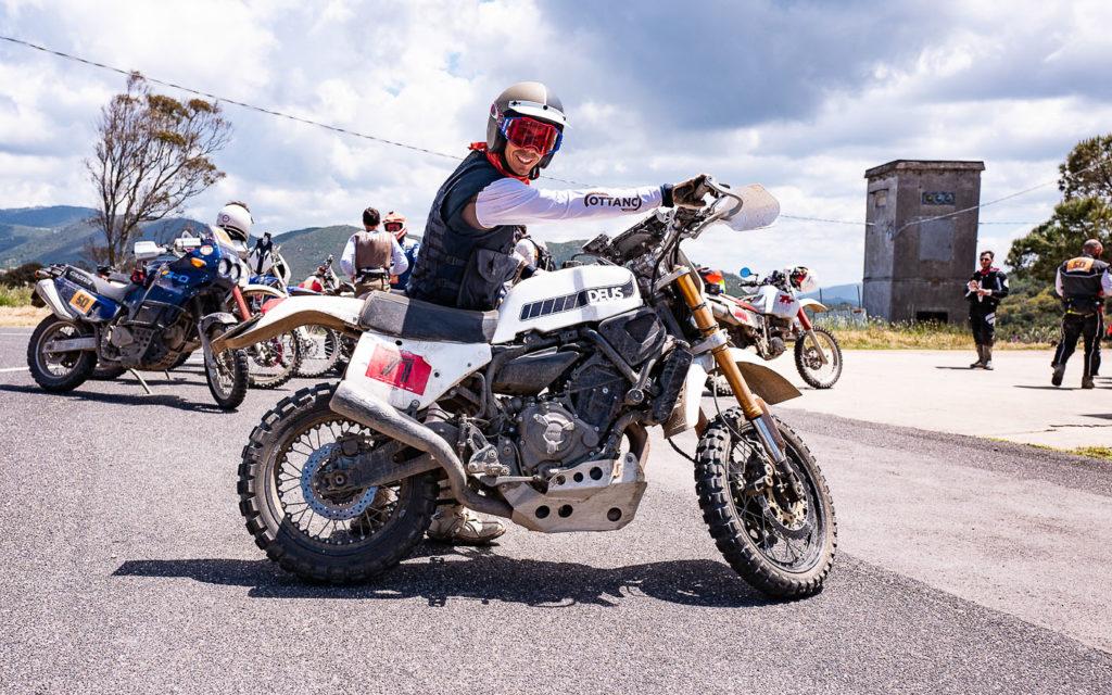 Marco Aurelio Fontana testete die XSR700 von DEUS bei der Rally Sardinien