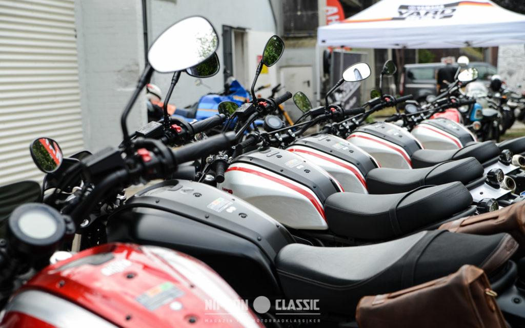 Wer mochte, konnte Yamaha Faster Sons Modelle auch fahren