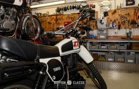 Bei der Yard Built gab es viele alte Yamaha Motorräder zu bestaunen