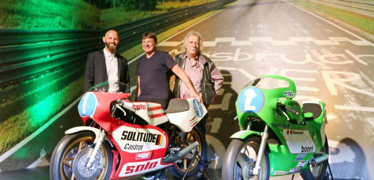 Die Motorräder von Toni Mang und Jon Ekerold sind Highlights der neuen Ausstellung im Ringwerk