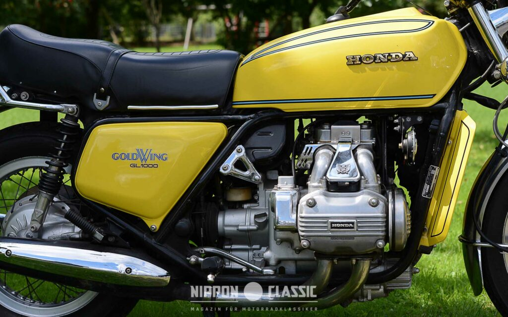 Seidenweich: der Vierzylinder-Boxer-Motor der GL 1000