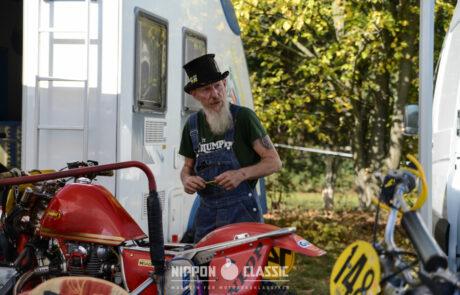 Im Fahrerlager beim Classic Offroad Festival in Wietstock