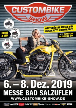 Plakat zur Custombike-Show 2019