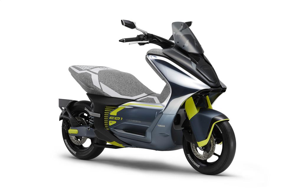 Der Yamaha E01 Elektro-Scooter sieht nicht nur schick aus