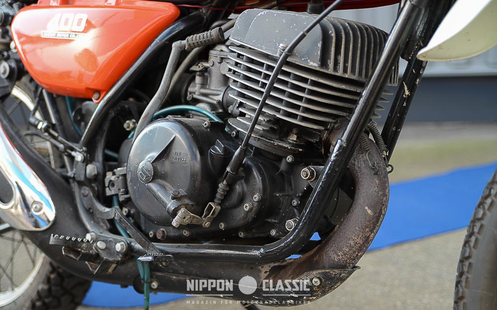 Anderer Motor und Rahmen der Suzuki TS 400