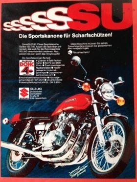 Suzuki GS Werbung von damals