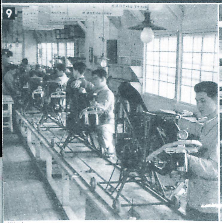 Fließband-Produktion der Honda Dream D-Typ