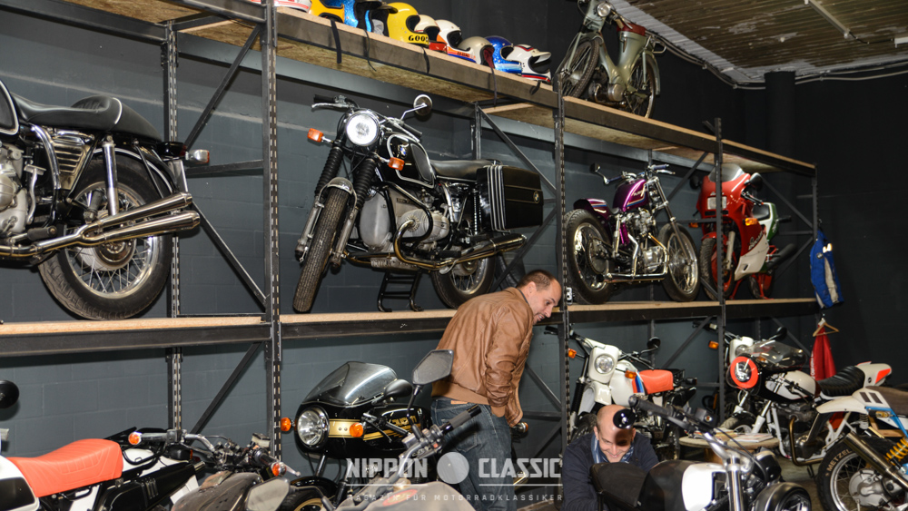 Michaels Leidenschaft für BMW ist den Craftwerk Räumen nicht zu übersehen