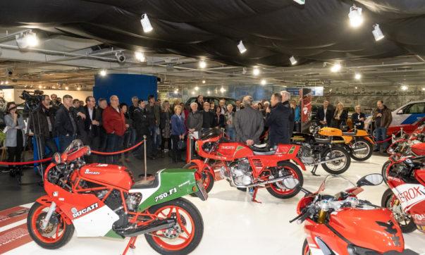 Zur Eröffnung der Ducati Sonderschau erschienen rund 90 Gäste