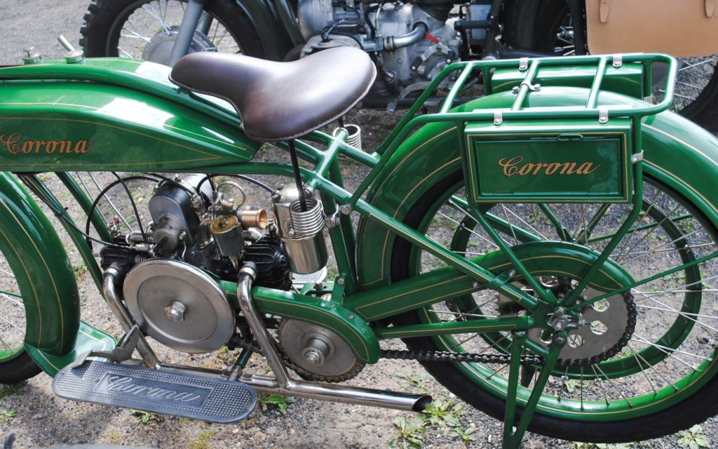 Corona baute Anfang des 20. Jh. Motorräder in Brandenburg