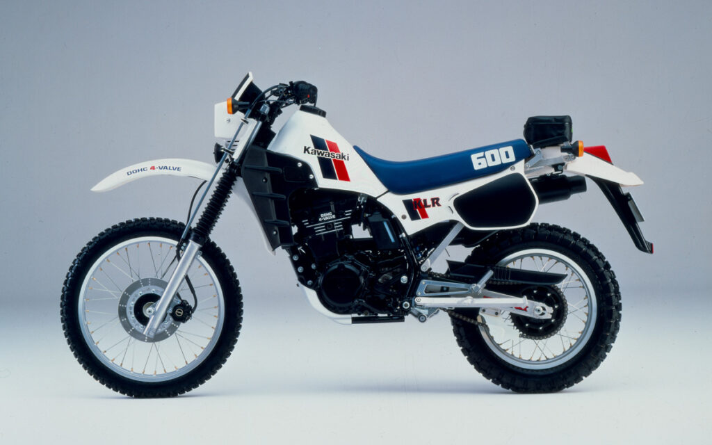 Kawasaki Farbvariante - weiße KLR 600A von 1984