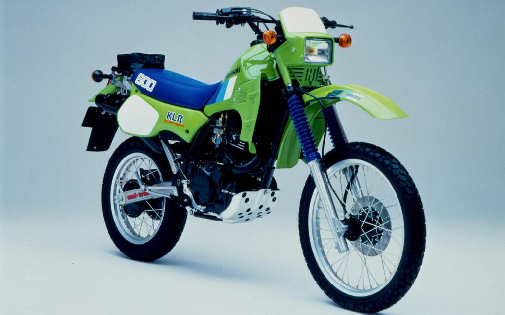 Motortechnisch war die Kawasaki KLR 600 dem Wettbewerb voraus