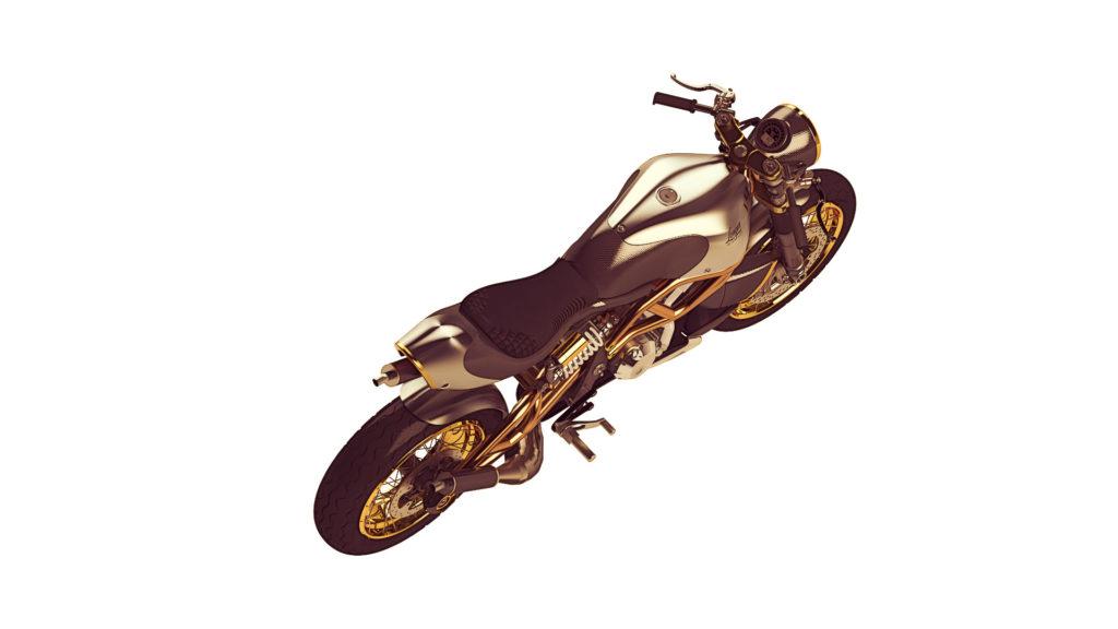 "Goldiger Cafe Racer ""The 2-Stroke"" von Langen Motorcycles"