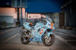 Yamaha FZR 600 im Gulf-Design