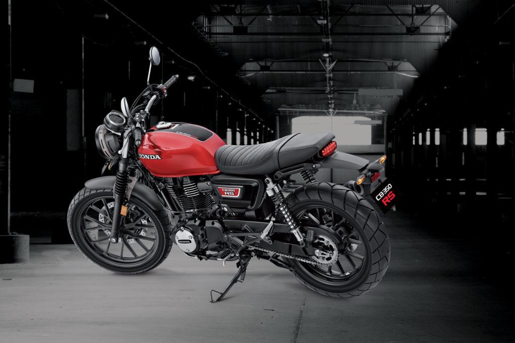 Die neue Honda CB 350 RS in Radiant Red Metallic