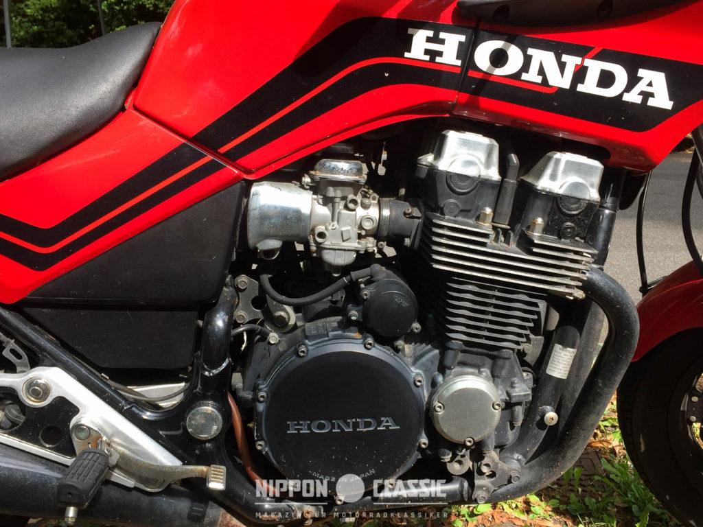 Der CBX 750 Motor ist kurzhubig ausgelegt