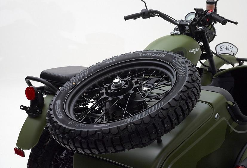 Die Mash Side Force rollt auf 18-Zoll-Rädern