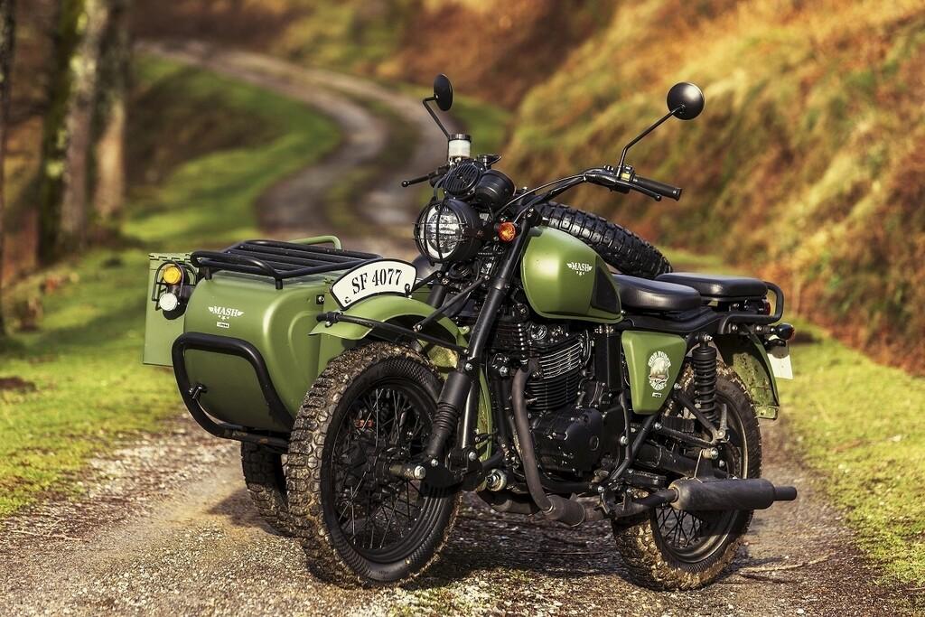 Retro-Militär-Optik erfreut sich sich großer Beliebtheit bei Motorrädern