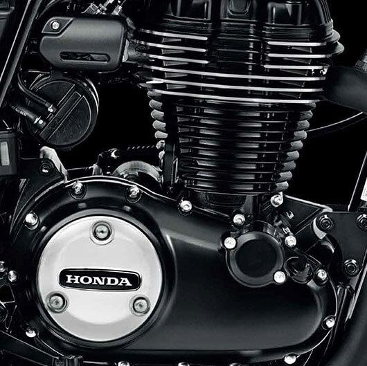 Der Motor der CB350RS ist langhubig ausgelegt