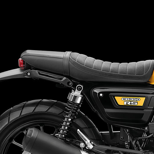 Die Sitzbank der Honda CB350 RS gefällt auf Anhieb