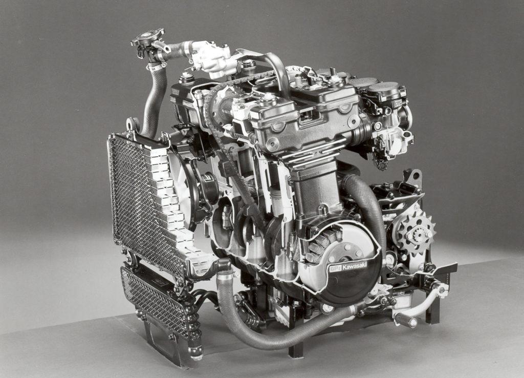 Der Motor der GPZ 600 R im Schnitt