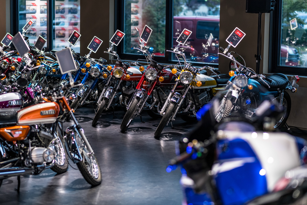 Blick in die Yamaha Collection Hall