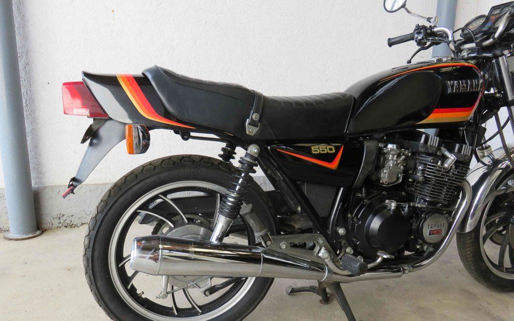 Beim Fahrwerk handelte sich die Yamaha XJ 550 einige Kritik ein