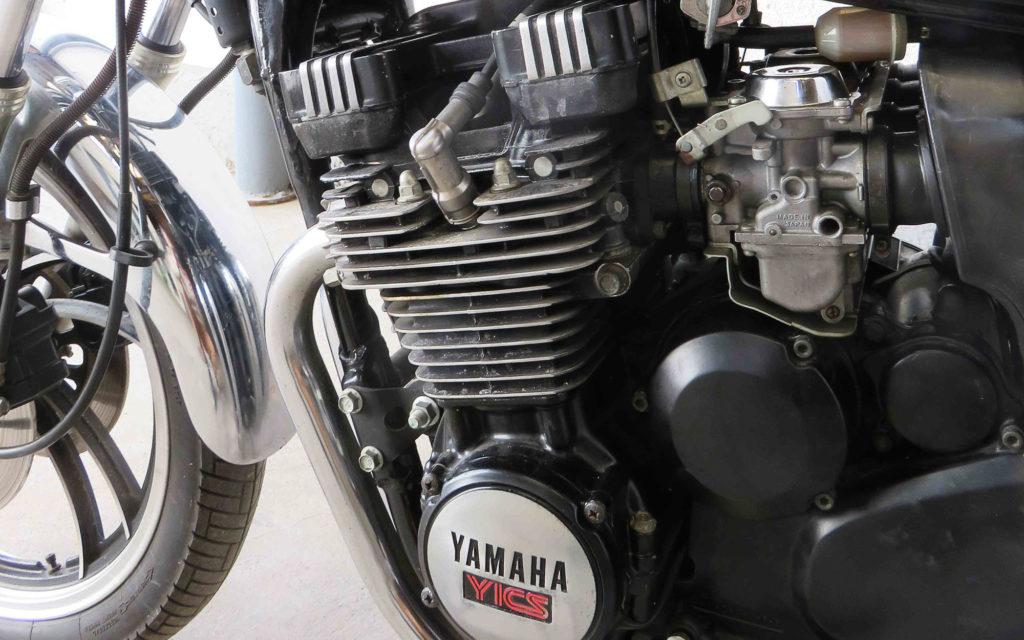 Vier Mikunis befeuern den Motor der XJ 550