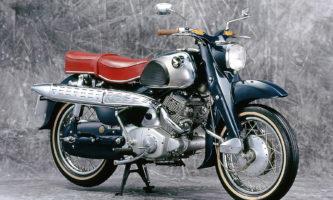 Honda CS 71 mit hochgezogener Auspuffanlage