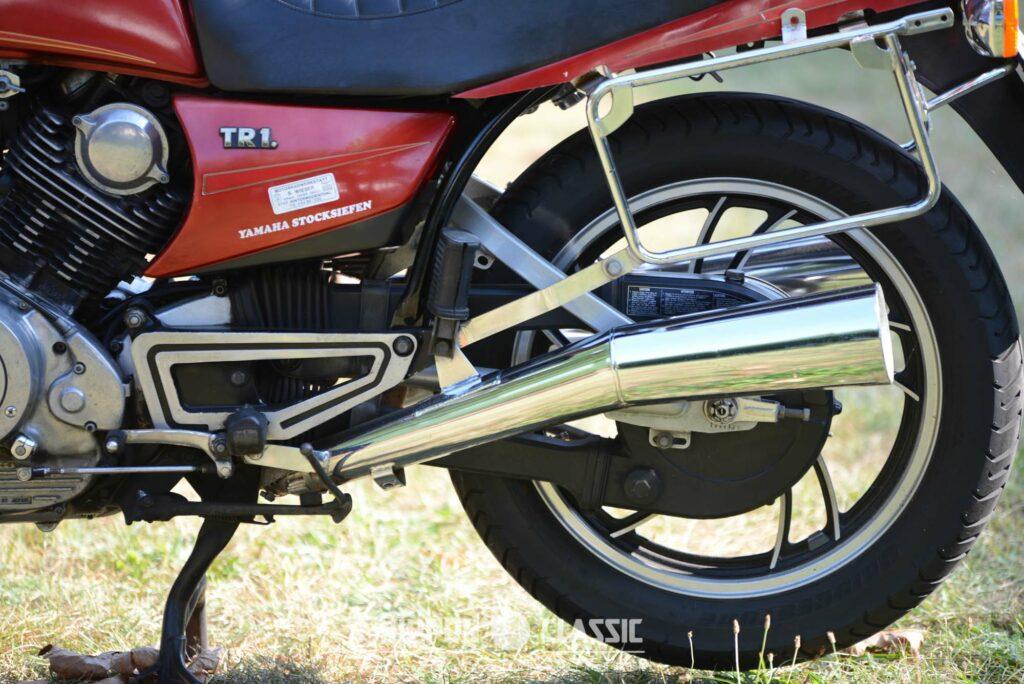 Neu war der gekapselte Kettenantrieb der Yamaha TR1