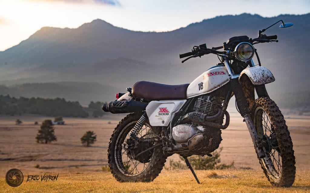 Modifizierte Honda XL 500 mit Scheibenbremse