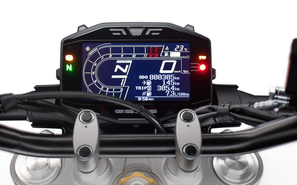Das LCD-Cockpit passt zum Styling der Suzuki GSX-S 950