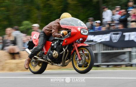 Tobias Aichele ging beim Glemseck 101 mit einer seltenen Egli-Honda an den Start
