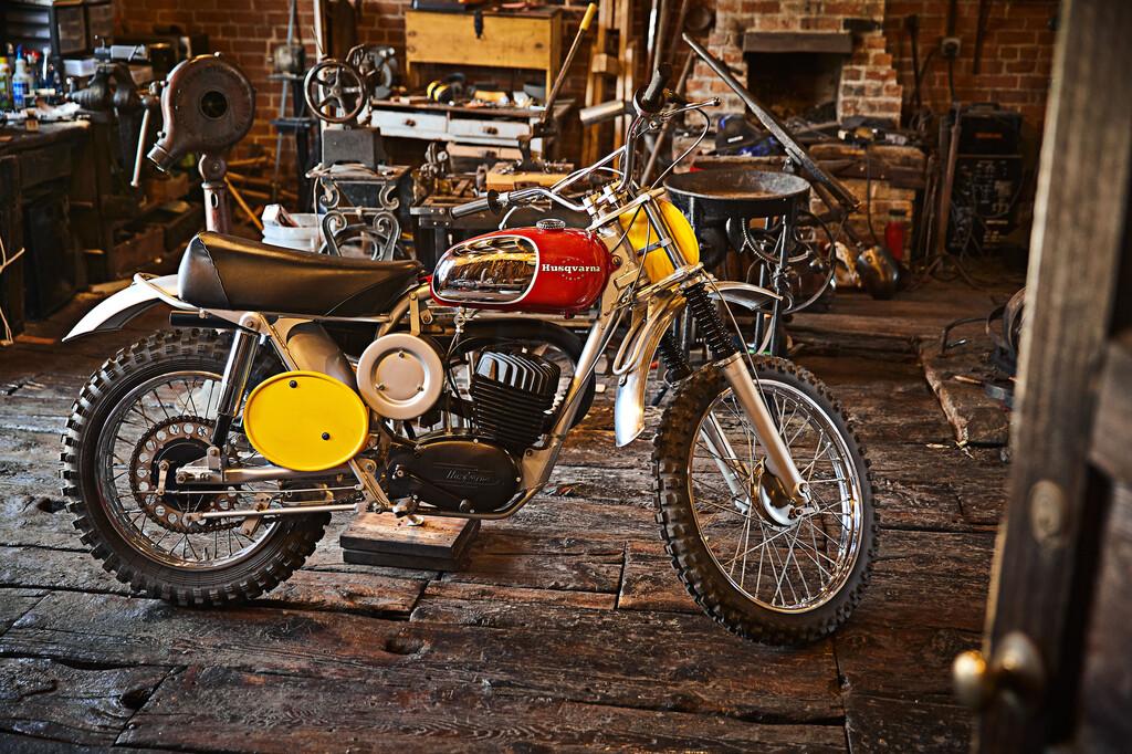 Die 1968er Husqvarna Viking 360 gehört einst Steve McQueen und damit zu den Highlights der Motorrad-Aktion