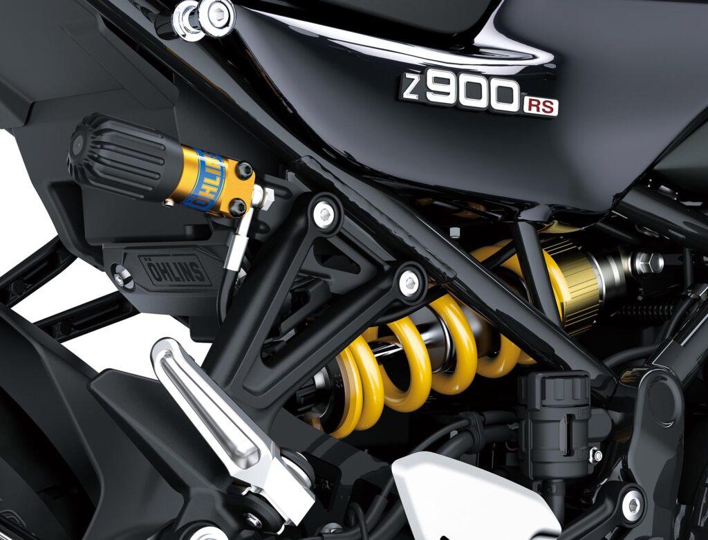 Die Z900RS SE bekommt einen Öhlins S46-Dämpfer