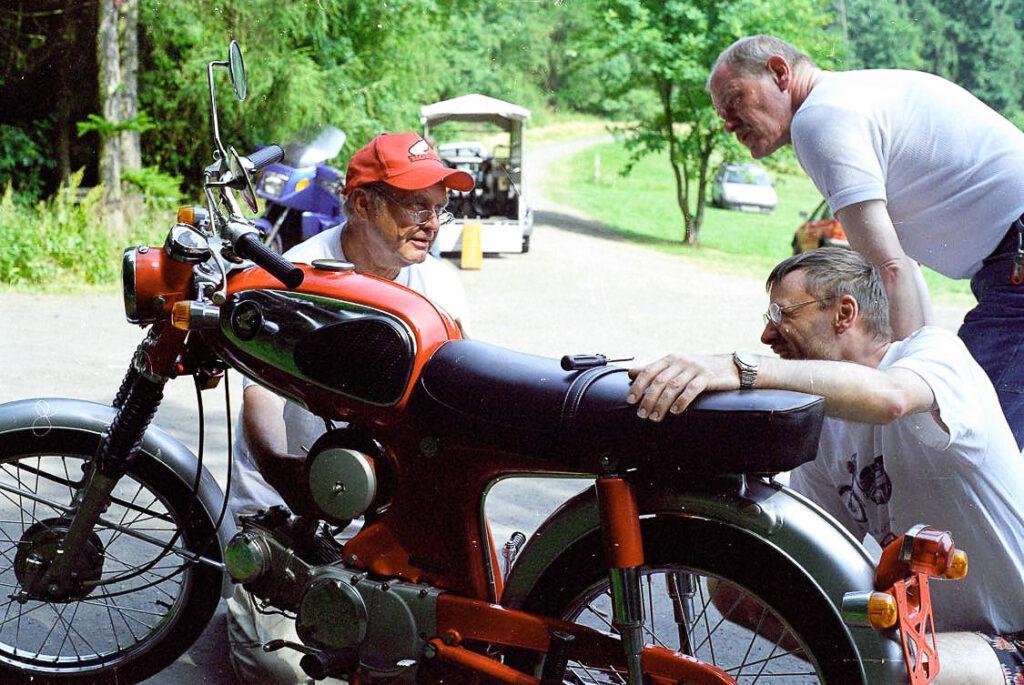 Stefan Hauch war ein absoluter Fachmann für alte Hondas