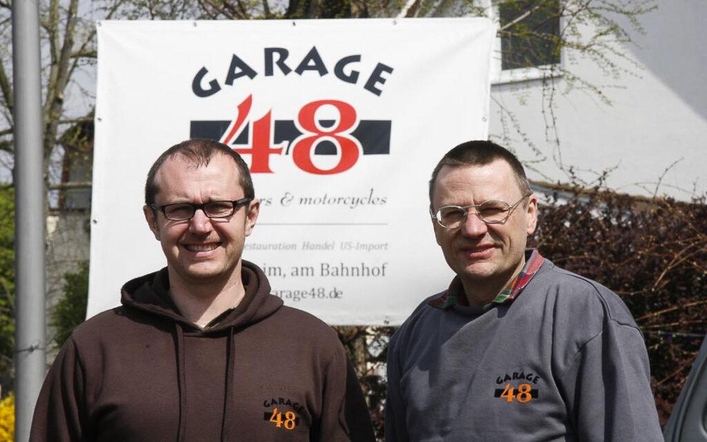 Frank Wiegand und Stefan Hauch gründeten später die Garage 48