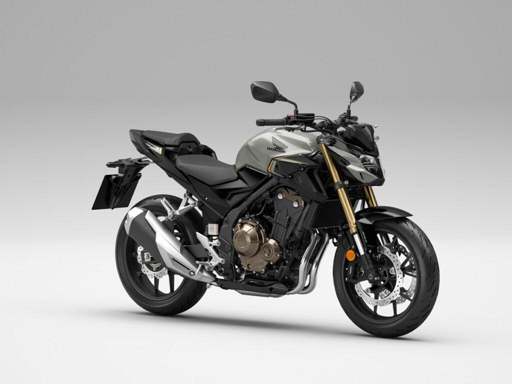 Pearl Smokey Gray ist eine weitere der neuen Farben für die 2022er Honda CB500F