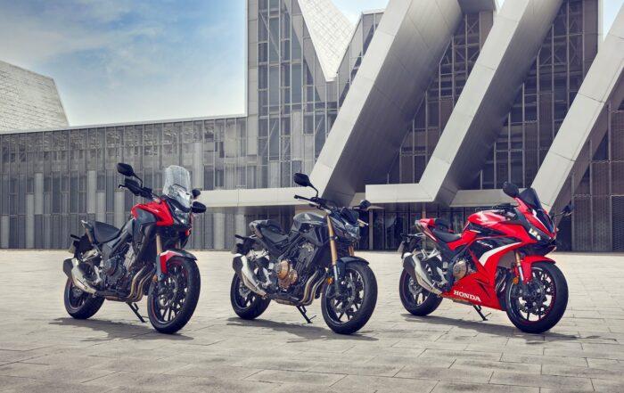 Hondas Mittelklasse Motorräder erhalten für 2022 eine gründliche Modellpflege