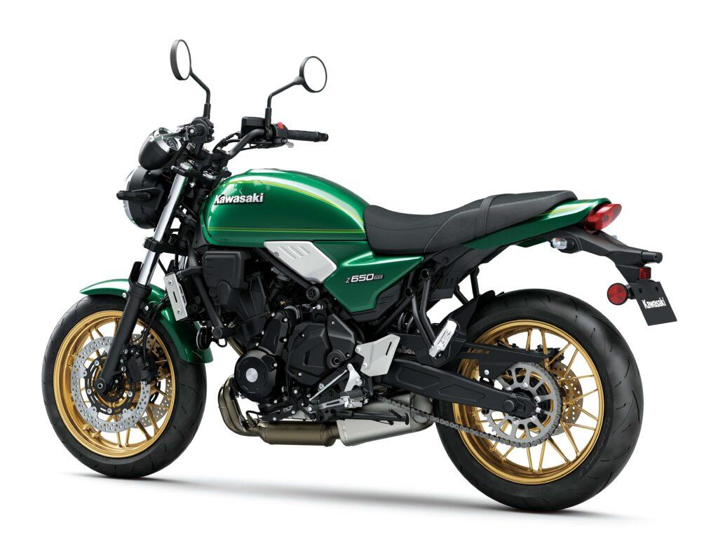 Das Design der Kawasaki Z650RS erinnert an die Z650 von 1977